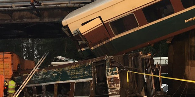 """An Amtrak train derailed south of Seattle early Monday, causing """"injuries and casualties,"""" according to officials."""