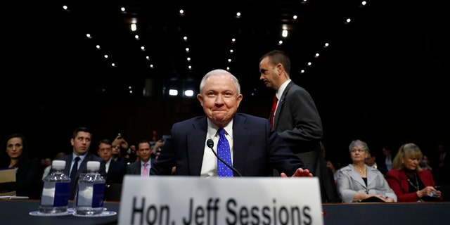 Attorney General Jeff Sessions arrives to testify before the Senate Judiciary Committee on Capitol Hill in Washington, Wednesday, Oct. 18, 2017. (AP Photo/Carolyn Kaster)