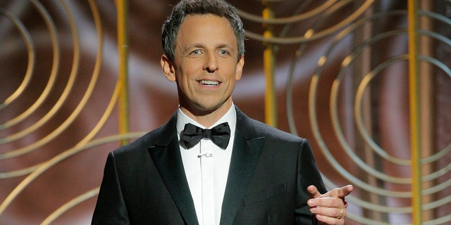 "Host Seth Meyers took the stage and greeted the crowd as ""Ladies and remaining gentlemen."""
