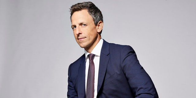 """""""Late Night With Seth Meyers"""" star Seth Meyers teased that his hosting gig at the Golden Globes will be politically charged."""