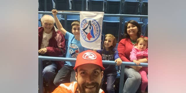 "Dorothy Sewell (far left) had ""almost as much love"" for Toronto sports ""as she did for her family,"" her grandson said."