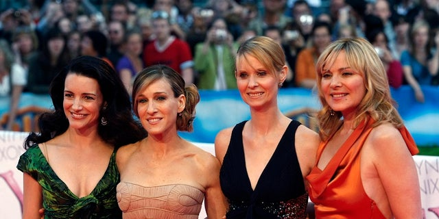 """Sex and the City"" former co-stars from l-r: Kristin Davis, Sarah Jessica Parker, Cynthia Nixon and Kim Cattrall."