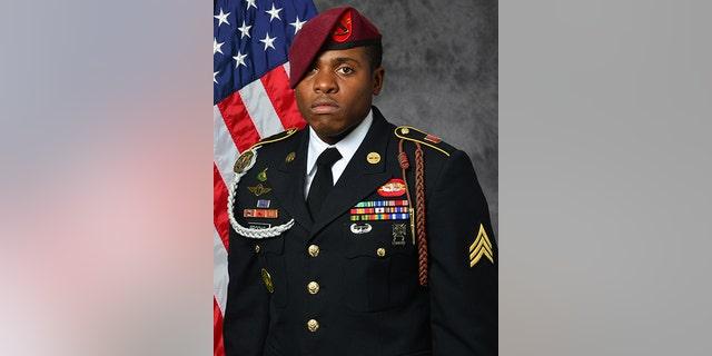 U.S. Army, Sgt. Roshain E. Brooks of the Brooklyn borough of New York.