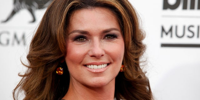Country music star Shania Twain