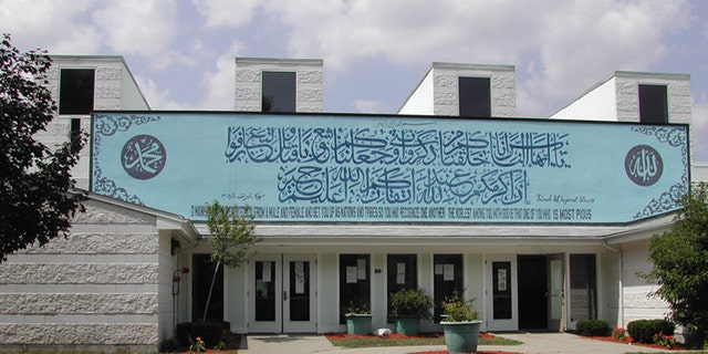 This mosque in Sharon, Mass., is one of two run by the Islamic Center of New England, and one of three tied to a doctor accused of promoting a radical brand of Islam. (File)