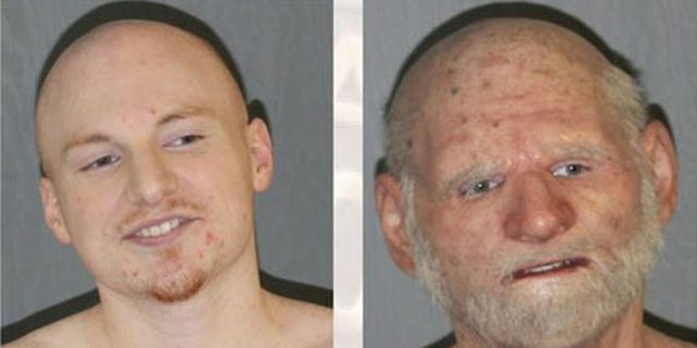 "Police say they found fugitive Shaun Miller, 31, at a Massachusetts home disguised as an ""elderly man."" (ATF)"