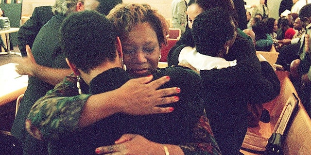 Saundra Adams, pictured here in 2001, told the Charlotte Observer that Carruth would never have custody of his son.