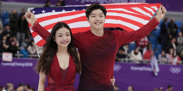Maia Shibutani and Alex Shibutani won the bronze medal in the free dance figure skating competition.