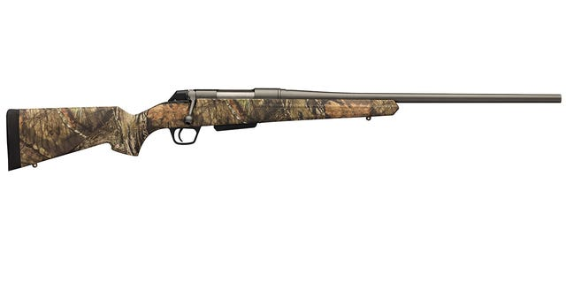 The low weight of the Winchester XPR Hunter Compact will make long hunts easier for someone of smaller stature.