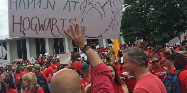 """""""For us it is personal. Together we say enough is enough,"""" said Mark Jewell, president of the North Carolina Association of Educators (NCAE)."""