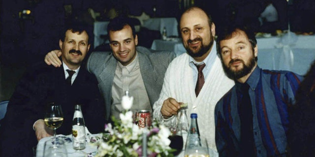 Stephen, second from left, was planning to play a round of golf with his brothers Frank, George and Russ (left to right) on September 11 before he heard on his scanner about the scene at the World Trade Center.