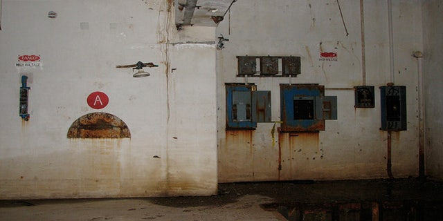 Inside one of the underground silos.