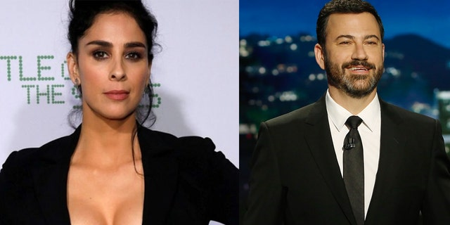 Sarah Silverman joked about getting back together with her ex, Jimmy Kimmel, while appearing on his ABC late night show.