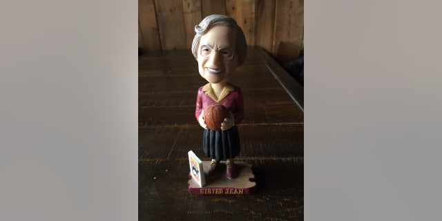 Sister Jean has her own bobblehead that the school made seven years ago. It's sold out but they are ordering more.