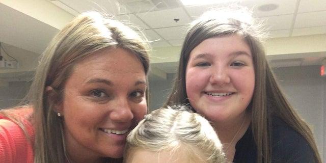 Brandie Weiler (left), Mollie (center), Maddie (right).