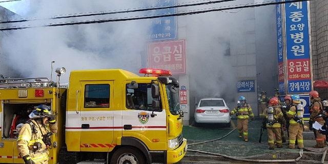 Fire at a South Korean hospital left dozens dead.