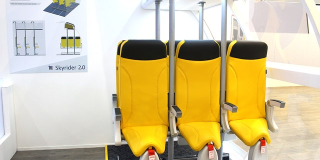 Each Skyrider 2.0. seat offers a back support and a saddle-style cushion for passengers to rest on.