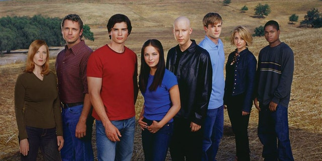 "The cast of ""Smallville."""