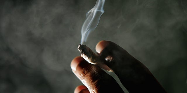 SAN FRANCISCO - NOVEMBER 29:  Jonathan Beaver of San Francisco holds a marijuana cigarette at the San Francisco Patients Cooperative, a medical cannabis cooperative, November 29, 2004 in San Francisco, California. The U.S. Supreme Court is considering whether people who have a doctor's recommendation to use medicinal marijuana in 11 states with medical marijuana laws, can get around a federal ban on using marijuana.  (Photo by Justin Sullivan/Getty Images)