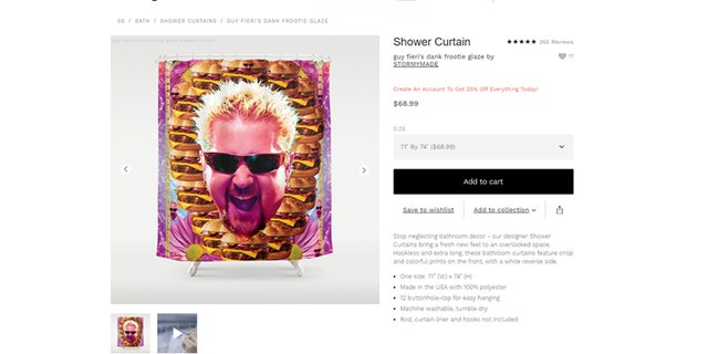 Artists have listed their household designs of the celebrity chef on the online shop, Society6.