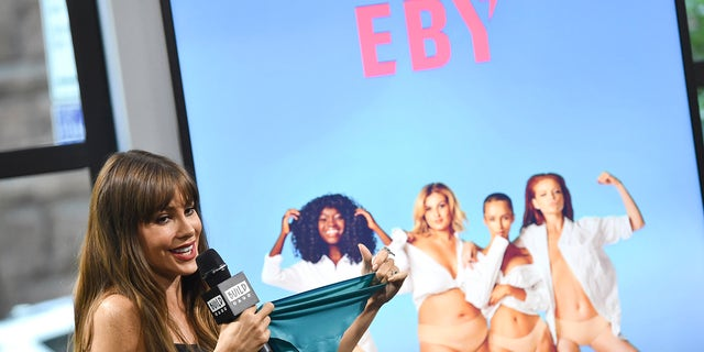 """Sofia Vergara participates in the BUILD Speaker Series to discuss her new subscription underwear line """"EBY"""", at AOL Studios on Wednesday, Sept. 27, 2017, in New York."""