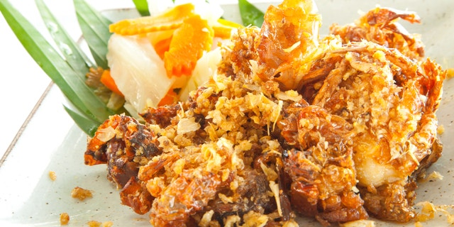 Gourmet deep fried Soft Shell Crab garlic and pepper meal
