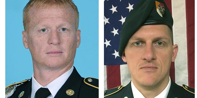 U.S. Army Special Forces Sergeant Jeremiah Johnson, left, and U.S. Special Forces Sgt. Bryan Black were killed in Niger Oct. 4