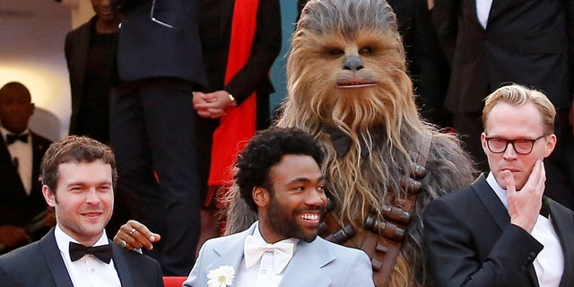 Donald Glover with his 'Solo' castmates at the Cannes premiere of the 'Star Wars' film.