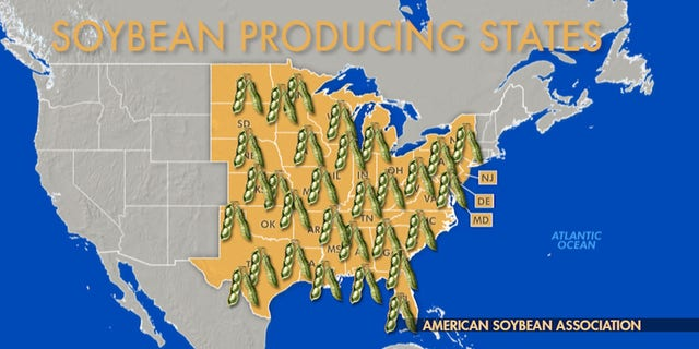 More than 300,000 soybean farmers in 30 states would be affected by price fluctuations of soybeans as a result of ongoing trade tensions with China.