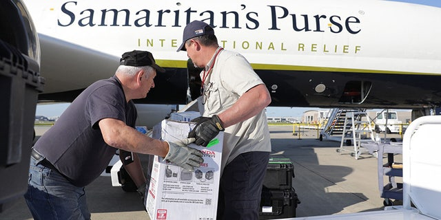 After Hurricane Irma's destructive path across the Caribbean, Samaritan's Purse sends its DC-8 aircraft to St. Maarten, with 20 tons of supplies including hygiene items, blankets and rolls of heavy-duty plastic sheeting for emergency shelter.