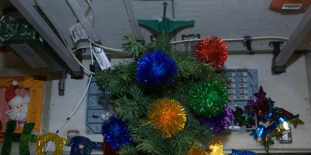Space Station Christmas Tree from a former Expedition