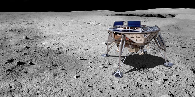 Artist's impression of SpaceIL spacecraft on the moon (SpaceIL).