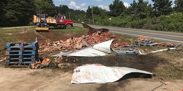 The spaghetti sauce truck crash was the third time this month that edible goods were left on an Arkansas highway.