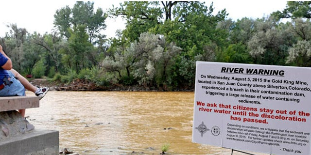 Officials are warning people along the affected rivers to test water before using it for drinking, cooking or bathing. (AP)