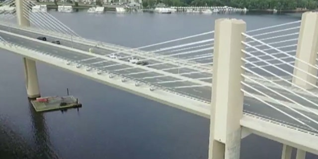 The one-mile St. Croix crossing bridge connects Minnesota to Wisconsin.