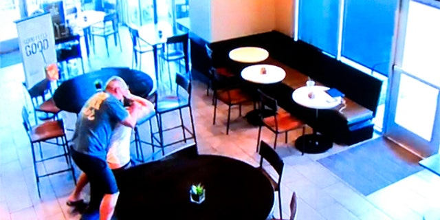 Cregg Jerri was caught on video interrupting a robbery at a Fresno, Calif., Starbucks.