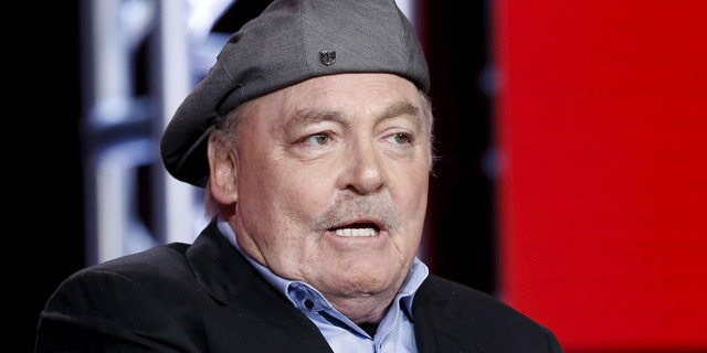 """Cast member Stacy Keach speaks at a panel for the NBC series """"Crowded"""" during the Television Critics Association (TCA) Cable Winter Press Tour in Pasadena, California, January 13, 2016.  REUTERS/Mario Anzuoni - RTX22A26"""