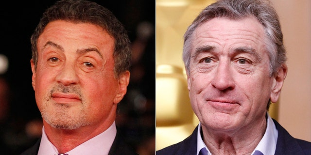 """Sylvester Stallone, left, and Robert De Niro will appear in the upcoming movie """"Grudge Match."""""""