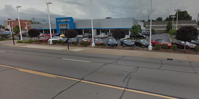The Dearborn dealership sells Chevrolets, Cadillacs and used cars.