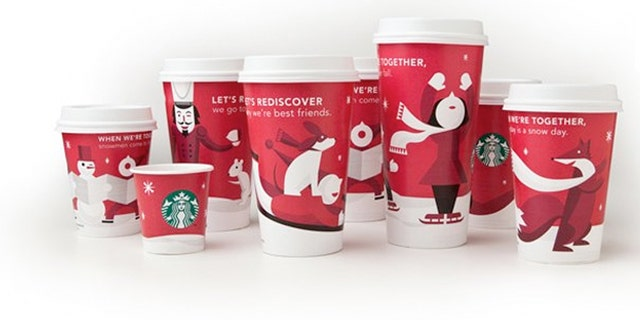 Starbucks 2011 holiday cup.