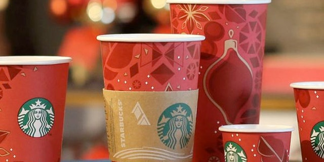 Starbucks 2013 holiday cup.
