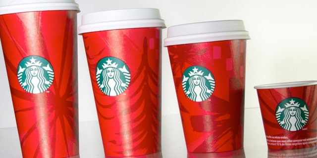 Starbucks 2014 holiday cup.