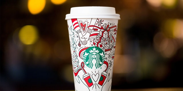 The design features some Christmas-themed symbols, along with others