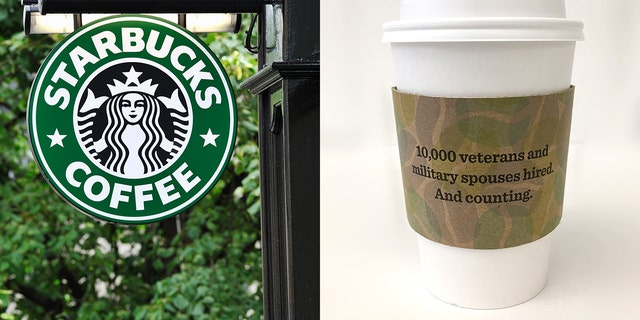 Starbucks is carrying special camo cup sleeves to honor veterans