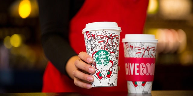 Starbucks released their new holiday cups today, featuring a color-in design