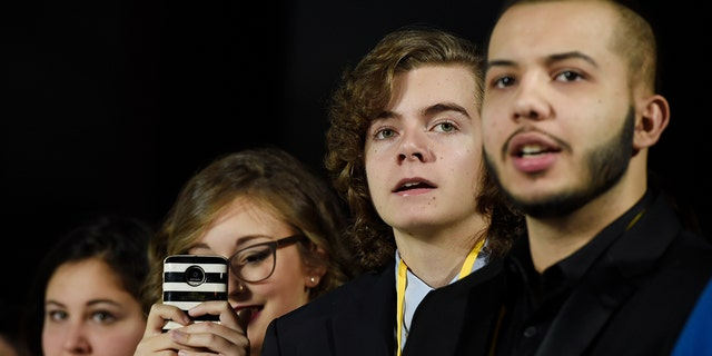 The teens were among seven teens with life-threatening medical conditions who were among the special guests at the premiere as part of the Make-A-Wish Foundation.