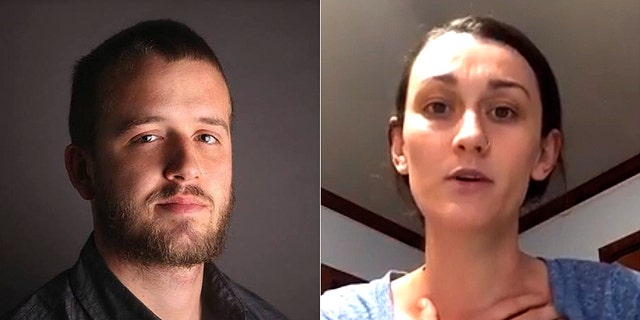 Laney Sweet, right, is the wife of Daniel Shaver, left, who was shot and killed last year by an Arizona police officer.