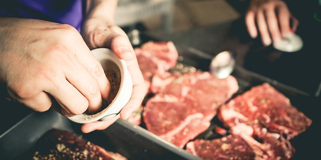 You can't salt the inside of a steak, so be sure to season liberally 30-40 minutes before cooking.