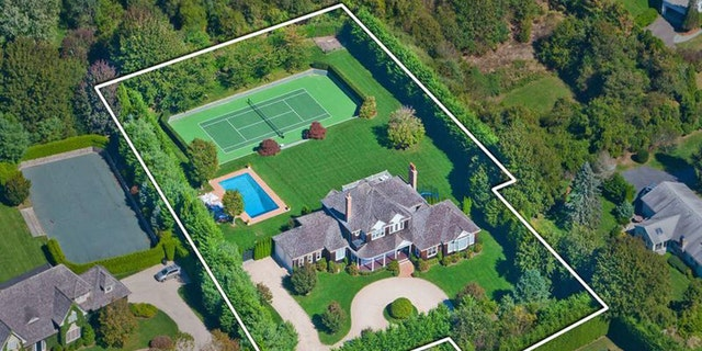 Stephanopoulos' vacation home features everything from a tennis court to a 1,000 bottle wine cellar.