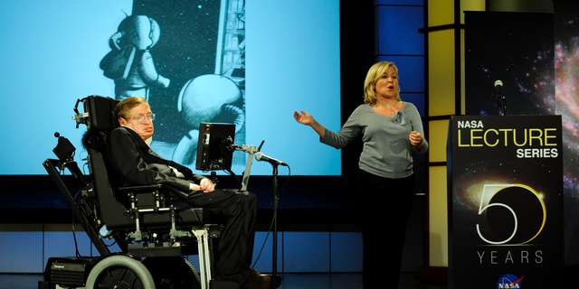 Professor Stephen Hawking speaks about why humanity should expand out into space for the NASA Lecture Series on April 21, 2008.